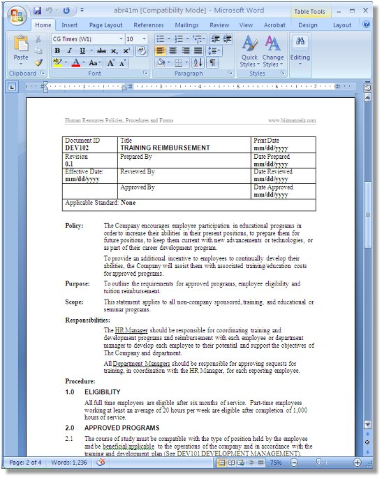 Policies and procedures template complete 2015 hipaa for Hr sop template