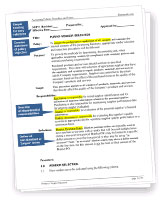 policy and procedure template microsoft word - ms word policies and procedures templates