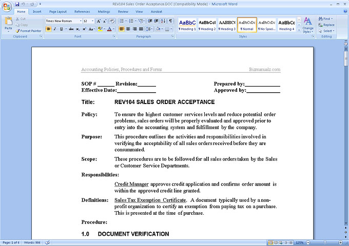 Policies and procedures manual template flashek