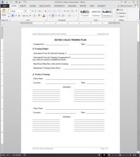 AD1050-3 Sales Training Plan