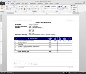 AD1060-1 Meeting Agenda