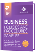 Business Sample Policy and Procedure Manual Template