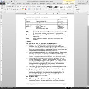CON101 Project Change Orders Procedure