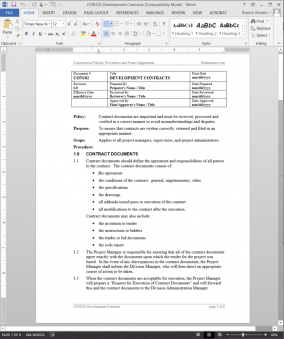 CON102Development Contracts Procedure