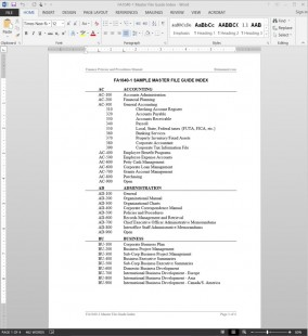 Master File Guide Index Template