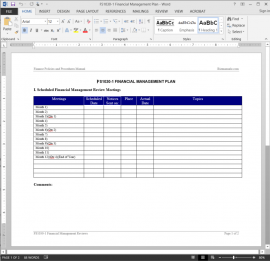 FS1030-1 Financial Management Plan Template