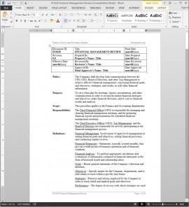 Financial Management Review Procedure