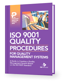 Iso 9001 procedures for quality management systems book for Iso 9001 procedures templates