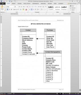 MP1030-2 Marketing Database Description
