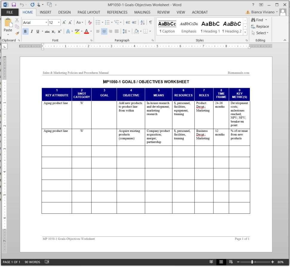 Printables Goals And Objectives Worksheet goals objectives worksheet template mp1050 1 worksheet