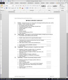 MP1060-2 Strategy Checklist