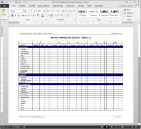 MP1070-2 Marketing Budget Template