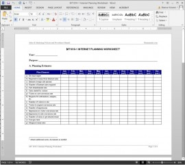 MT1010-1 Internet Planning Worksheet
