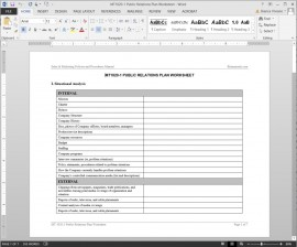 MT1020-1 Public Relations Plan Worksheet