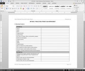 MT1020-1 Public Relations Plan Worksheet