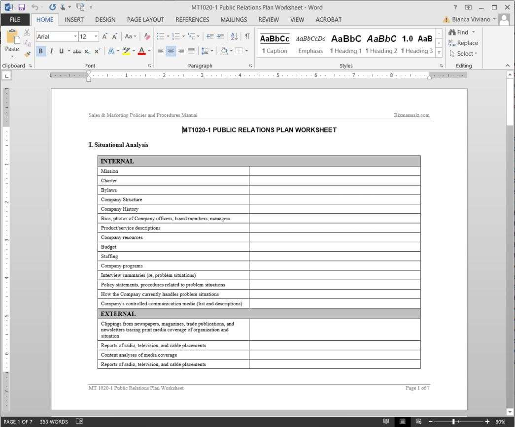 Public relations plan template image collections for Implicit instantiation of undefined template