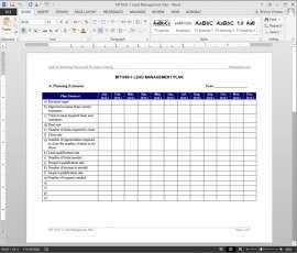 MT1050-1 Lead Management Plan