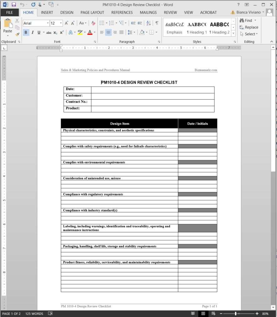 Add To Wishlist  Free Standard Operating Procedure Template Word