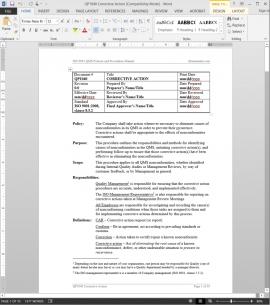QP1040 ISO Corrective Action Procedure