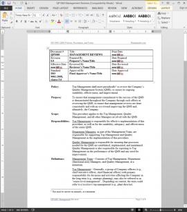 QP1060 ISO Management Reviews Procedure