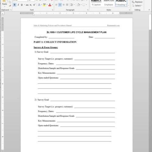 Business plan template for Client management plan template