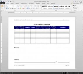 SL1020-2 Prospect Database