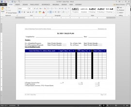 SL1030-1 Sales Plan