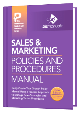Sales Marketing Policy and Procedure Manual Template