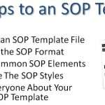 How to Write a Standard Operating Procedures (SOP) Template