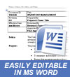 Policies and Procedures MS Word Template