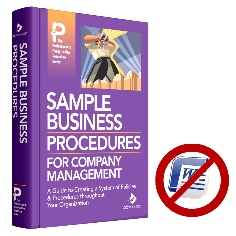 sample company policies and procedures manual