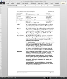 Stakeholder Analysis Procedure