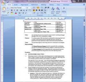 Applicant Interview Procedure | HRG104