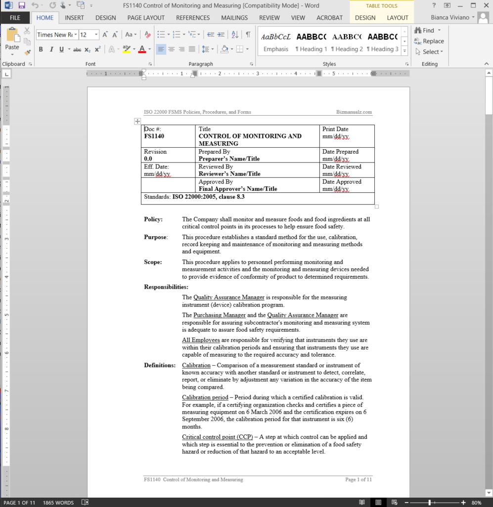 calibration procedures for measuring instruments pdf