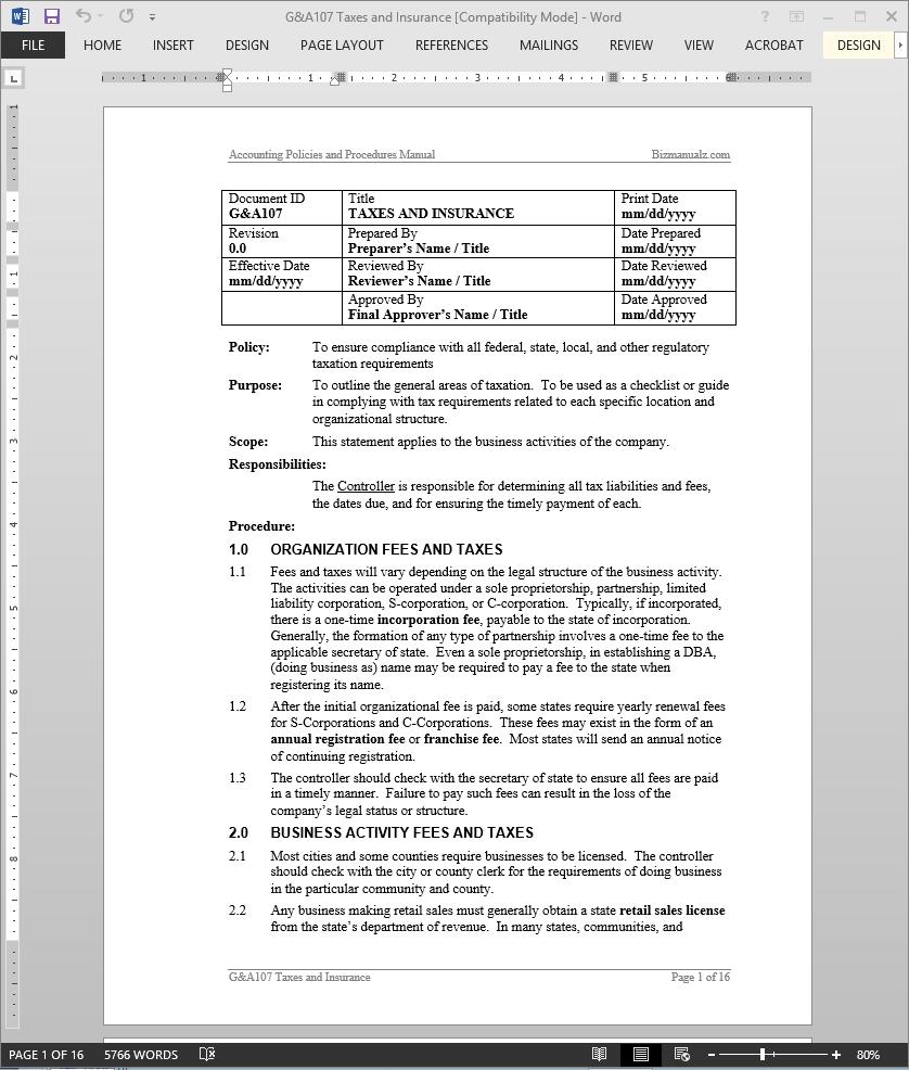 payroll policies and procedures manual