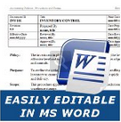 easily editable policies procedures in ms word