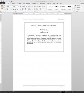 ITSW109-3 Software Copyright Notice Template