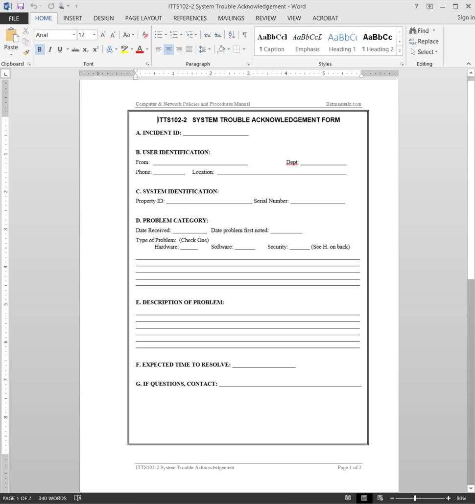 internal control policies and procedures manual