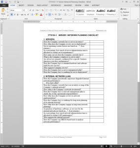 ITTS103-1 IT Server-Network Planning Checklist Template