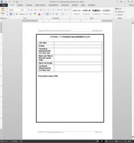 ITTS105-1 IT Training Requirements List Template