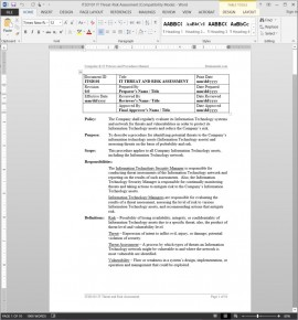 ITSD101 IT Threat-Risk Assessment Procedure