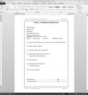 ITSD103-1 IT Information Storage Plan Template