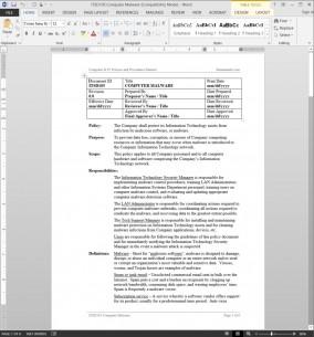 ITSD105 Computer Malware Procedure