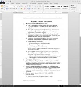ITSD106-1 IT Access Control Plan Template