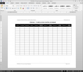 ITSD106-2 IT User Access Control Database Log Template