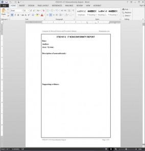 ITSD107-2 IT Nonconformity Report Template