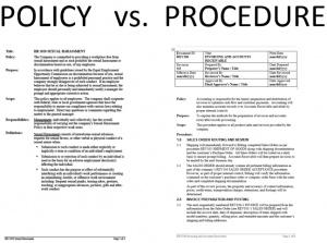 How To Write New Policies And Procedures