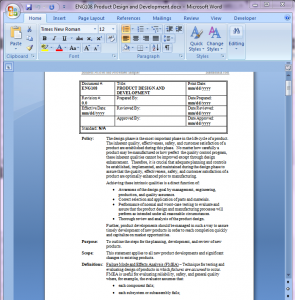 Product Development Procedure