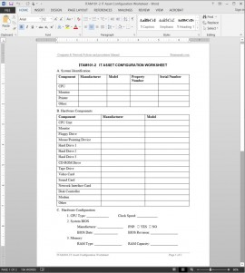 ITAM101-2 IT Asset Configuration Worksheet Template