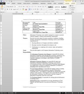 ITAM102 IT Asset Management Procedure